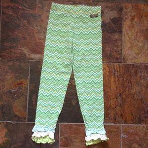 MATILDA JANE green zig zag legging pants 6 (E4)